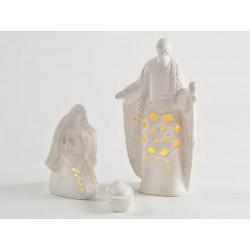 Natività porcellana con luci H 18