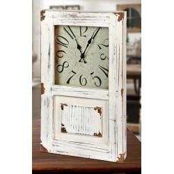 Orologio in legno vintage forma anta. 30x6 H 50