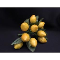 Mazzo 12 limoni con foglia.CM 2-2.5 ca