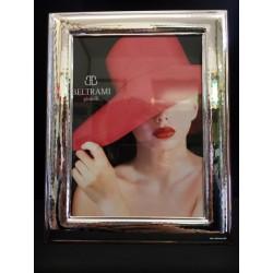 Portafoto argento con retro legno. CM 13x18 interno