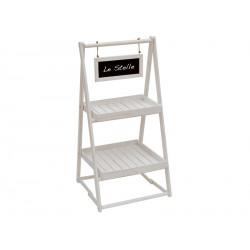 Espositore a piani in legno con lavagnetta. CM 55x56 H 109
