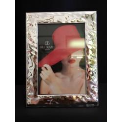 Portafoto argento con retro legno. CM 10x15 interno