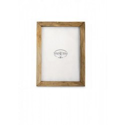 Portafoto legno naturale. 20x27 interno