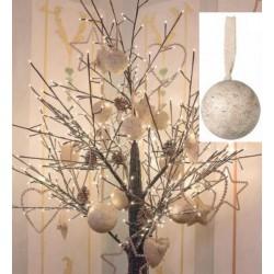 Palla natalizia da appendere in legno. Diam. 10