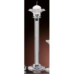 Candelabro vetro e cristallo. H 32