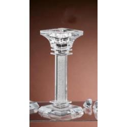 Candelabro vetro e cristallo. H 21