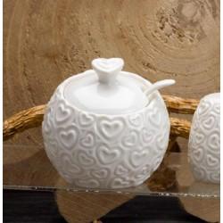 Zuccheriera ceramica bianca. H 10