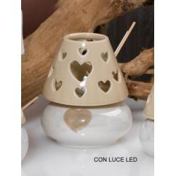 Profumatore ceramica con luce LED. H 11