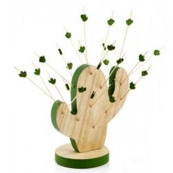 Antipastiera forma cactus con stuzzicadenti in legno con scatola. CM 20