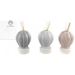 Profumatore ceramica forma mongolfiera, con scatola. Ass 3. CM 13