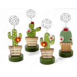 Cactus in legno con memo clip. Ass 4. CM 14