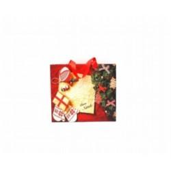 Borsa carta natalizia. CM 25x8.5 H 34.5  ass.3