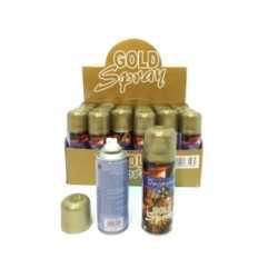 Bottiglietta decorativa oro spray. 250 ML 80 GR