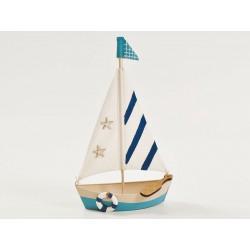 Barca metallo marinara. CM 18x9 H 29