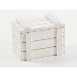 Scatola legno bianca CM 8x5 H 6 chiusura calamitata