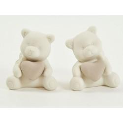 Orso ceramica con cuore. Ass 2. H 8