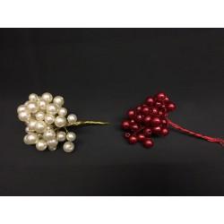 Mazzo 48 perle avorio o rosse