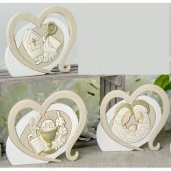 Icona resina forma cuore. CM 8