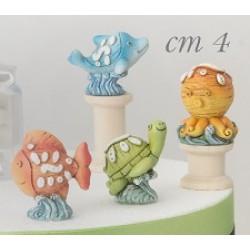 Animali marini in resina. Ass 4. CM 4