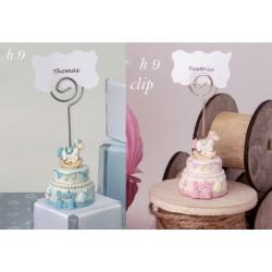 Torta in resina baby con memo clip. H 9