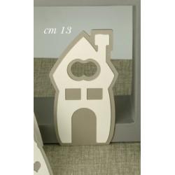 Apribottiglia metallo forma casa con scatola. CM 13