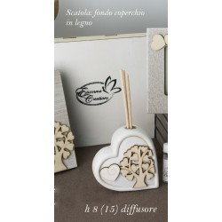 Porfumatore ceramica con albero legno e scatola. CM 8 (15 tot)