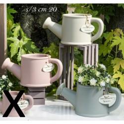 Annaffiatoi ceramica colorata. Ass 3 CM 20