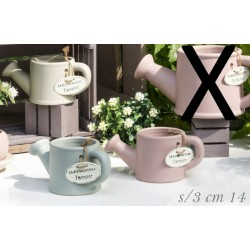 Annaffiatoi ceramica colorata. Ass 3 CM 14 H 6.5