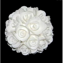 Sfera da appendere rose lattice bianche. Diam. 20