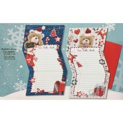 Letterina babbo natale con orsetto e busta rossa. Ass 2