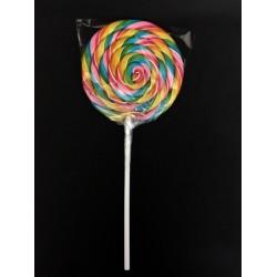 Lecca lecca girandola colorata, gusto frutta. GR 100 CM 26 Diam. 11