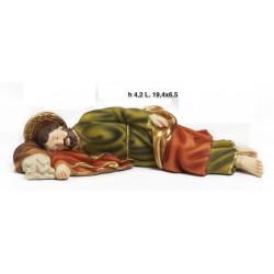 San Giuseppe dormiente in resina. CM 19.4x6.5 H 4.2