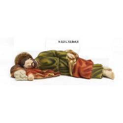 San Giuseppe dormiente in resina. CM 12.8x4.5 H 3.2