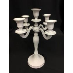 Candeliere metallo anticato con 5 braccia. H 31
