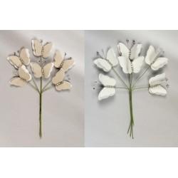 Mazzo 6 pz doppia farfalla con strass. Farfalla CM 4x3
