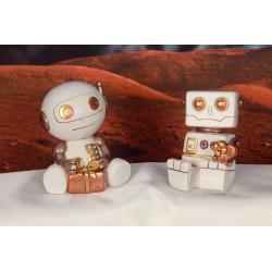 Robot salvadanaio in resina. Ass 2. H 11