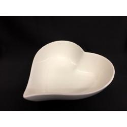 Ciotola porcellana forma di cuore. CM 17.5x19 H 5.5