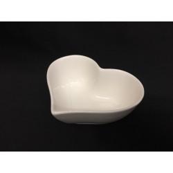 Ciotola porcellana forma di cuore. CM 10x8 H 4