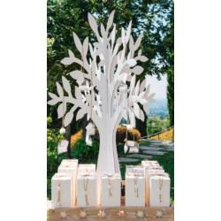 Set 2 albero cartoncino da allestimento. H 120 cm