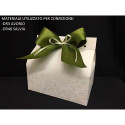 Scatola cartoncino avorio. Base CM 14x9 - Parte Contenitiva H 10