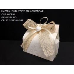 Scatola cartoncino avorio. Base CM 7x4 - Parte Contenitiva H 4.5