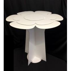 Tavolino in cartoncino forma fiore. H 59 Diam. 60