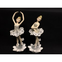 Ballerina resina con abito e base glitter. Ass 2. H 16