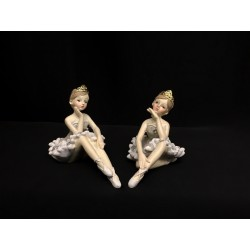 Ballerina resina con abito e base glitter. Ass 2. H 7