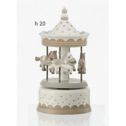 Giostra in legno carillon. H 20