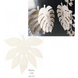 Set 12 foglie Malva in carta, ideali per tableau mariage. CM 15