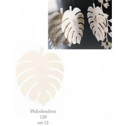 Set 12 foglie Philodendron in carta, ideali per tableau mariage. CM 12
