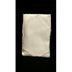 Sacchetto raso lucido bianco con punta. CM 9x13