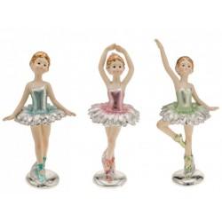 Ballerina resina con vestito colori metallizzati. Ass. 3 CM 18