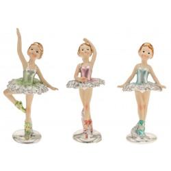 Ballerina resina con vestito colori metallizzati. Ass. 3 CM 12